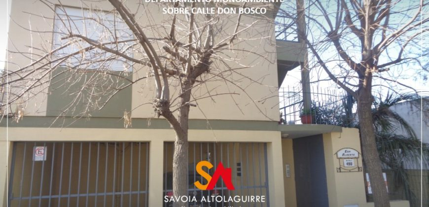 VENDE: DEPARTAMENTO MONOAMBIENTE S/DON BOSCO