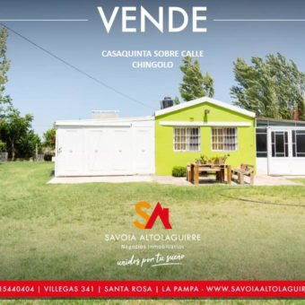 VENDE: IDEAL INVERSION TERRENO CON DOS PROPIEDADES SOBRE CALLE CHINGOLO